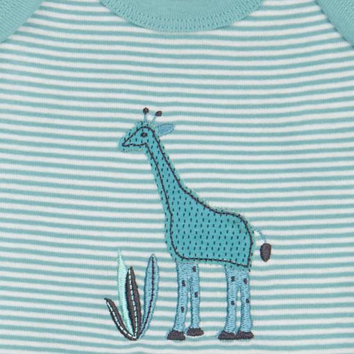 Completino giraffa verde acqua dettaglio