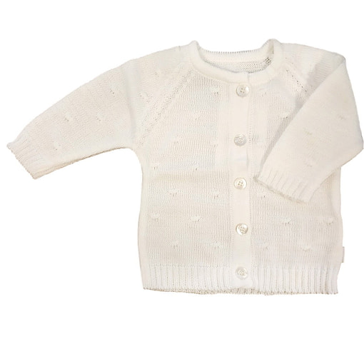 Cardigan in puro cotone bio bianco