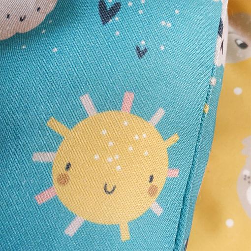 Fiocchi nascita dettaglio sole