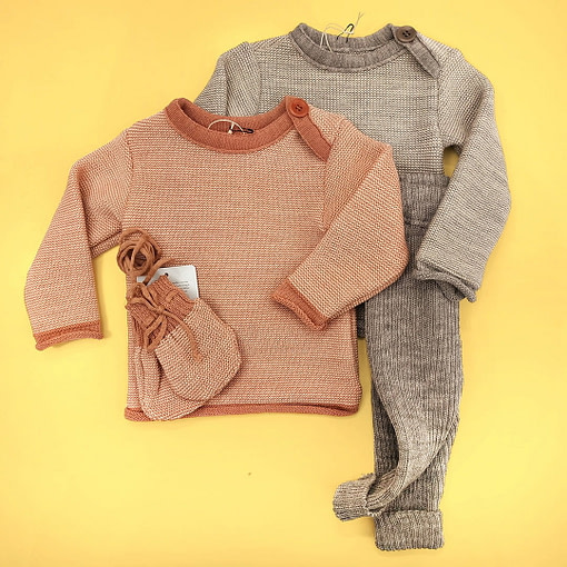 Completino maglioncino lana merino