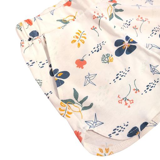 Completino fiori origami pantaloncini