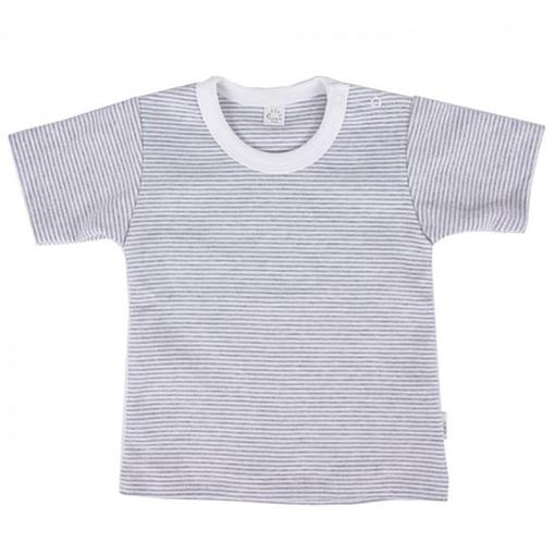 Maglietta con righine cotone bio