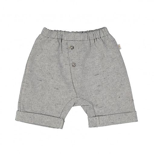Pantaloncini 3/4 in lino e cotone