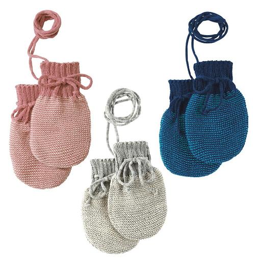 Manopoline in maglia di pura lana merino