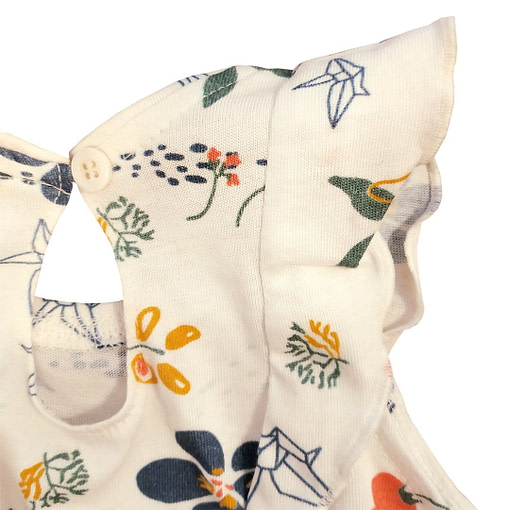 Pagliaccetto fiori origami retro