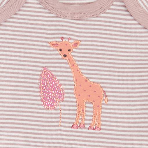Completino giraffa malva dettaglio