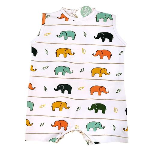 Pagliaccetto bianco elefantini