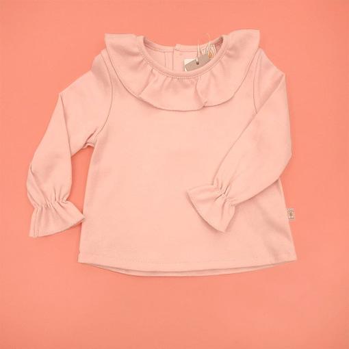 Camicina colletto pierrot colore rosa