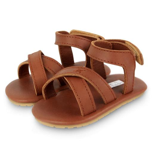 Sandalini in pelle velcro
