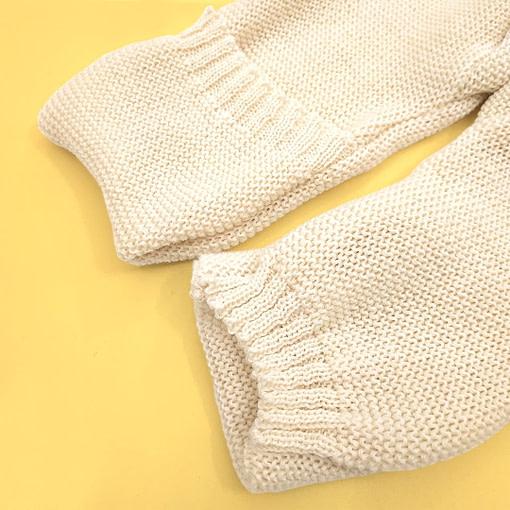 Tutina in pura lana merino piedini