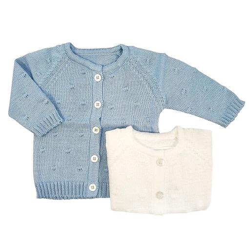 Cardigan lavorati a maglia in cotone bio