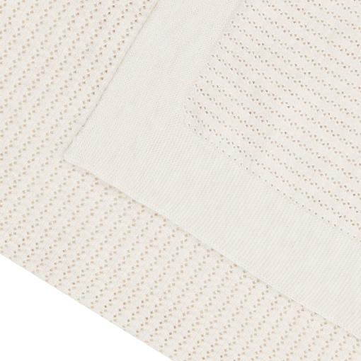 Copertina cotone bio crema dettaglio