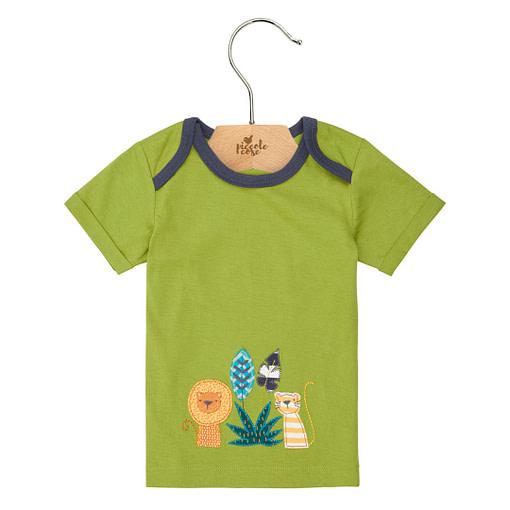 Maglietta verde ricami