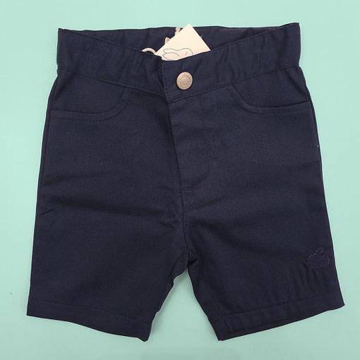 Bermuda in cotone blu