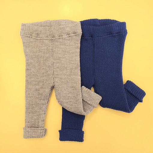 Pantaloni slim lana merino