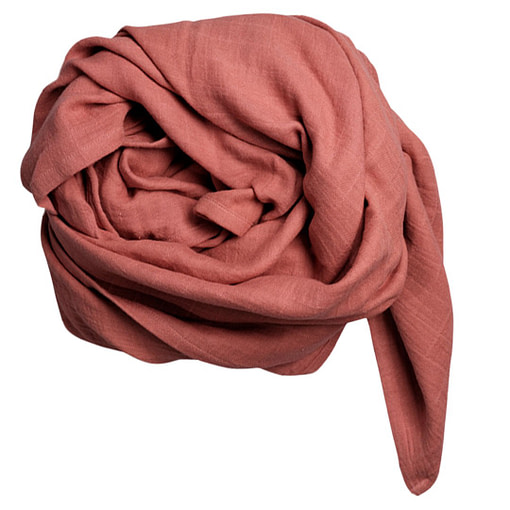 Mussolina foulard rosa
