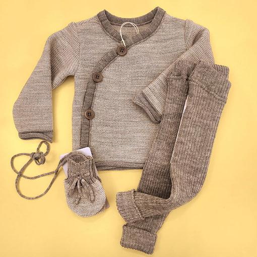 Completino giacchina lana merino grigio