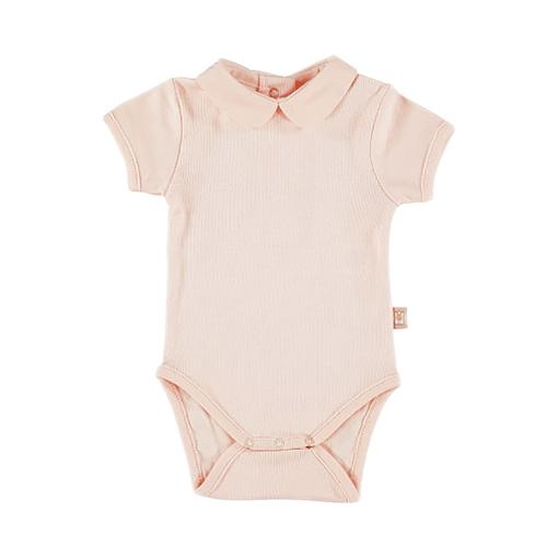 Body con colletto tondo rosa