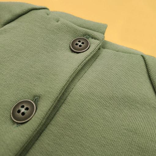 Felpa verde ochetta in festa retro